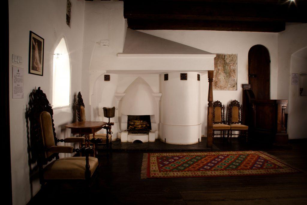 L'interno del castello di Dracula in Transilvania